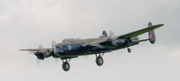 Bombardier d'Avro Lancaster Images libres de droits