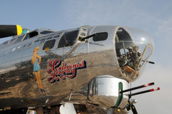 Bombardier de forteresse de vol d'ère de la deuxième guerre mondiale Image libre de droits