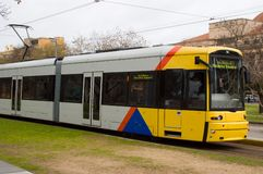 Bombardier Flexity Class Tram. The new Bombardier Flexity class tram in Adelaide, South Australia royalty free stock photos