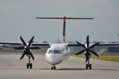 Bombardier Q400 Royalty Free Stock Photos