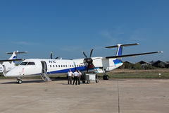 Bombardier Q400 Royaltyfri Foto