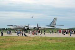 Bombardier stratégique du Tupolev Tu-95 (ours) Photo stock