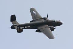 Bombardiere B-25 durante il volo Fotografie Stock Libere da Diritti