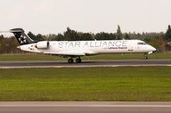 Bombardiere CRJ-700 Fotografia Stock