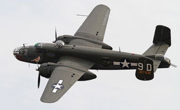 Bombardiere della seconda guerra mondiale B-25 Mitchell fotografia stock libera da diritti