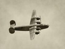Bombardiere di era della seconda guerra mondiale Fotografie Stock