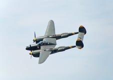 Bombardiere di guerra mondiale del lampo P-38 Fotografia Stock