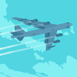 Bombardiere pesante nel cielo Fotografie Stock