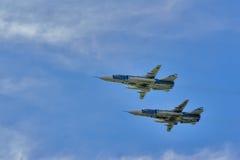 Bombardieri di prima linea supersonici russi di Sukhoi Su-24 Fotografia Stock