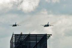 Bombardieri di prima linea supersonici russi di Sukhoi Su-24 Fotografia Stock Libera da Diritti