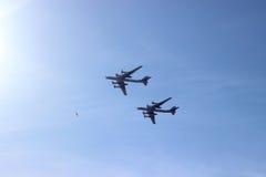 Bombardieri russi dell'Arma nucleare della guerra fredda Fotografia Stock