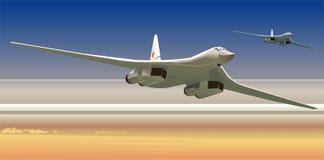 Bombardieri strategici di vettore illustrazione vettoriale