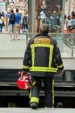 Bombardieri - vigile del fuoco - Barcellona immagini stock libere da diritti