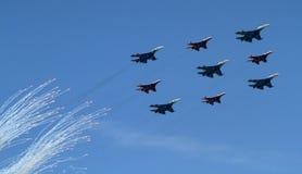 Bombardiers russes d'armée photographie stock