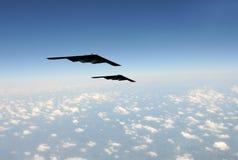 Bombardiers stratégiques en vol photo libre de droits