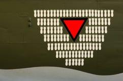 Bombardierungbeschilderung Lizenzfreies Stockbild