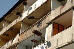 Bombardment building ruins in Nagorno Karabakh Royalty Free Stock Image