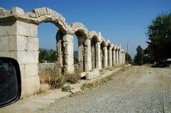 Bombardment building ruins in Nagorno Karabakh Royalty Free Stock Photo