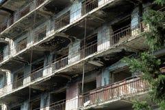 Bombardment building ruins in Nagorno Karabakh Royalty Free Stock Photos