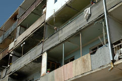 Bombardowanie budynku ruiny w Nagorno Karabakh Fotografia Stock