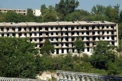 Bombardowanie budynku ruiny w Nagorno Karabakh Zdjęcie Royalty Free