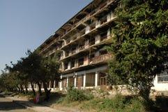 Bombardowanie budynku ruiny w Nagorno Karabakh Zdjęcia Stock