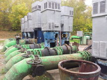 Bombas de agua eléctricas viejas fotografía de archivo libre de regalías