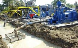 Bombas de lama da perfuração para a exploração do petróleo Fotografia de Stock