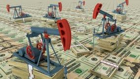Bombas de petróleo ilustración del vector