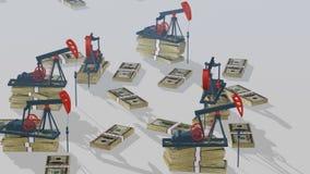 Bombas de petróleo stock de ilustración