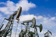 Bombas de petróleo Fotografía de archivo libre de regalías