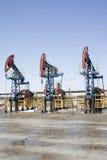Bombas de petróleo imagem de stock