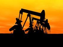Bombas de petróleo Foto de archivo libre de regalías