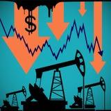 Bombas para a extração do óleo Represente graficamente uma diminuição o vecto do estoque do custo Fotos de Stock Royalty Free