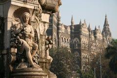 Bombay. Colonial era fountain in Central Bombay Stock Photo