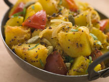 Bombay Aloo - Curried Potatoes Royalty Free Stock Photos
