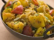 Bombay Aloo - patate al curry Fotografie Stock Libere da Diritti