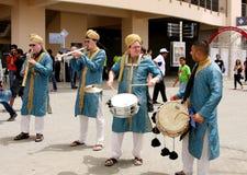 Bombay Baja Brass Band in F1 village 20 April 2012 Royalty Free Stock Photos