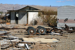 A Bombay Beach abandoned homestead Stock Photo