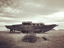 Bombay Beach boat Royalty Free Stock Images