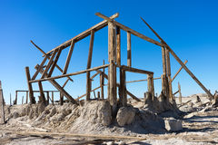 Bombay beach california ghost town. Wood framing of a decayed home bombay beach ghost town california stock photography