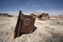 Bombay Beach Oven Stock Photo