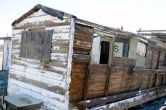 Bombay Beach shack abandoned Stock Photos