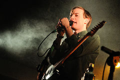 Bombay Bicycle Club, and English band who have experimented with folk, electronica and indie rock, performs at Bikini Club Stock Images