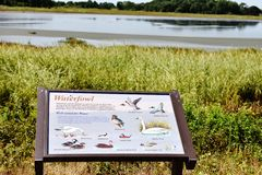 Bombay hook  wildlife refuge  delaware state usa. One of the landmark of Delaware state in USA is Bombay hook national park , thousands of birds  during year Stock Image