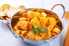 Bombay Potato Curry royalty free stock image