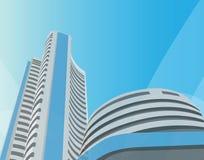 Bombay stock exchange, bombay, mumbai vector illustration