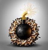 Bombe à retardement de tabagisme illustration libre de droits