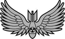 Bombe atomique avec des ailes Image libre de droits