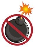 Bombe auf Verbot stock abbildung
